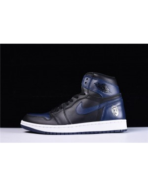 Spike Lee x Air Jordan 1 Retro High OG Midnight Marine/Noir-Blanche Pour Homme FrAirJordan0105-10