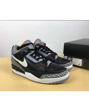 "Custom Air Jordan 3 ""Nero Cement"" per uomo di INDES ItAirJordan0351-21"