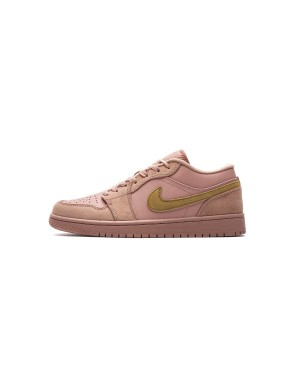 "Air Jordan 1 Low ""Coral Stardust"" Club Oro CJ9216-676 Uomo"