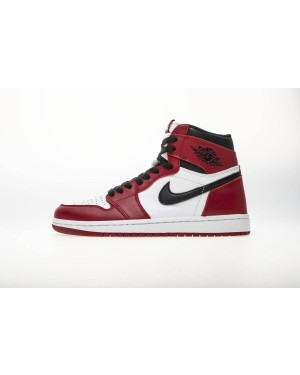 "Air Jordan 1 Retro OG High Nere / Bianche-Rosse ""Chicago"" 555088-101 da uomo ItAirJordan0955-10"