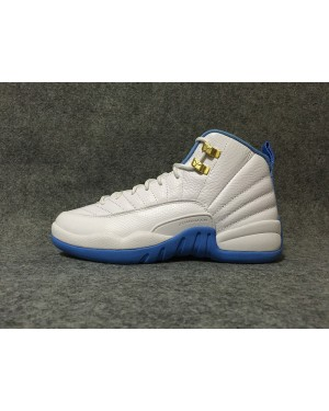 Air Jordan 12 Bianco Metallic Oro / University Blu per uomo e donna ItAirJordan0224-11